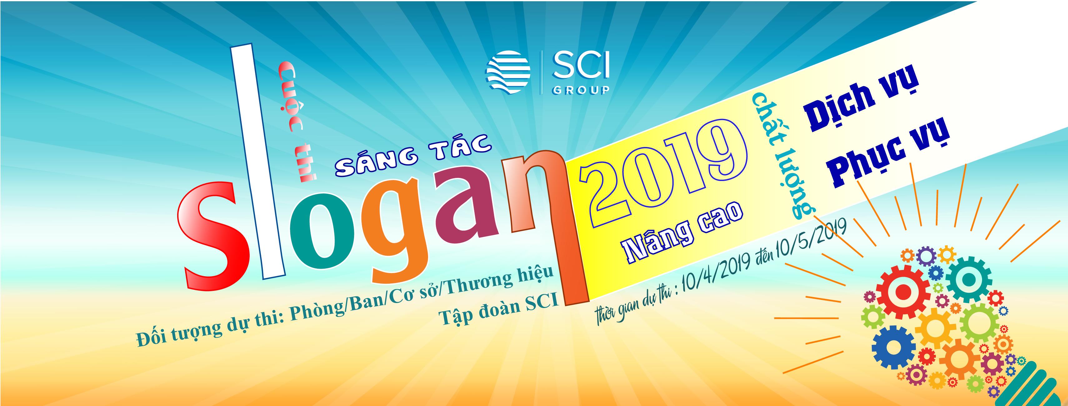Cuộc thi Sáng tác Slogan các Phòng/Ban/Cơ sở/Thương hiệu Tập đoàn SCI